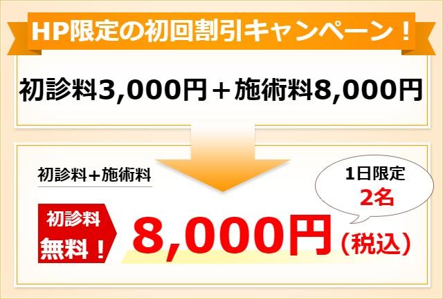初診 6500円