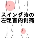 スイング時の左足首内側痛